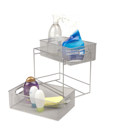 Mind Reader 2-Tier Metal Mesh Storage Baskets