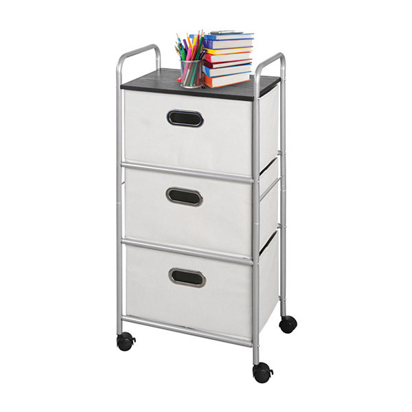 Bintopia™ 3-Drawer Cart With MDF Top