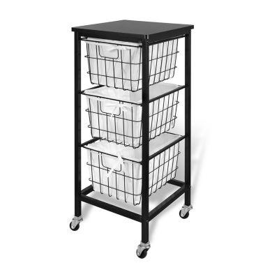 Bintopia™ 3-Drawer Rolling Wire Storage Cart