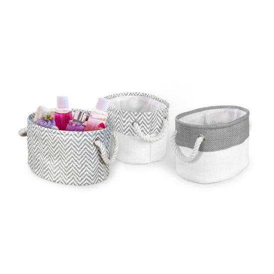 Bintopia™ 3-Pack Chevron Bin Set