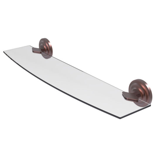 Allied Brass Que New Collection 24 IN Glass Shelf
