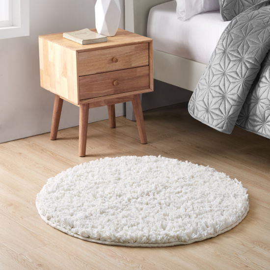 Vcny Round Paper Shag Bath Rug Jcpenney