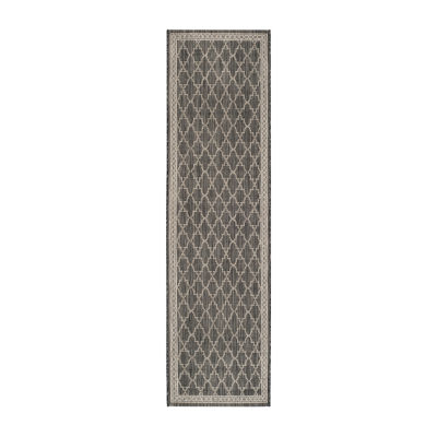 Safavieh Courtyard Collection Keeley Geometric Indoor/Outdoor Runner Rug