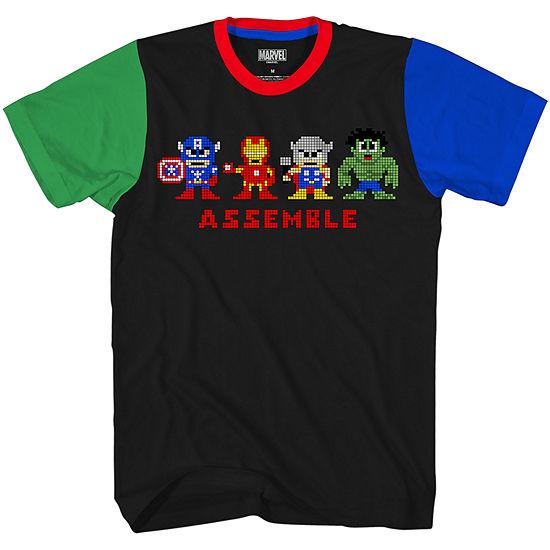 Boys Crew Neck Short Sleeve Marvel Graphic T-Shirt - Preschool / Big Kid
