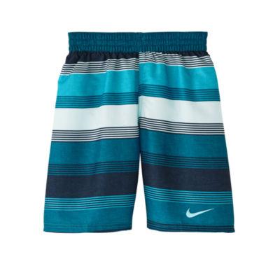 Nike Boys Stripe Trunks-Big Kid