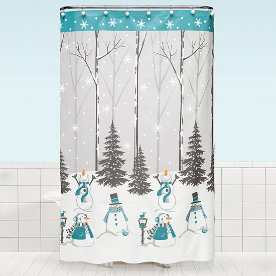 Saturday Knight Holiday Snow Buddies Shower Curtain