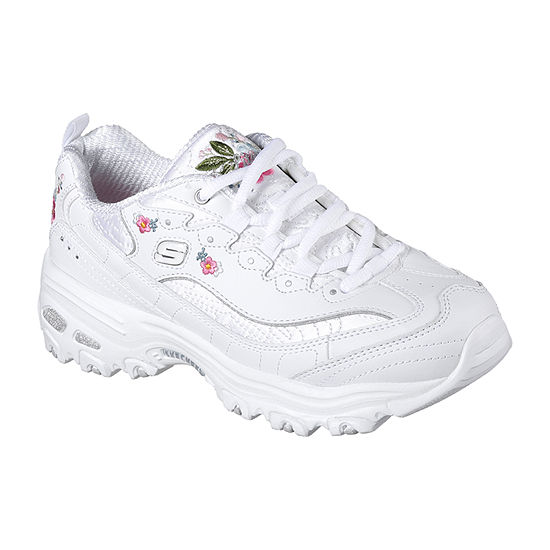 Skechers D'Lites Flower Womens Sneakers Lace-up