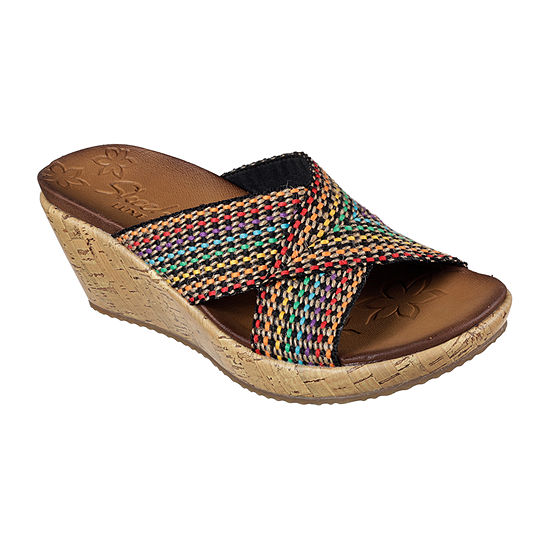 Skechers Womens Beverlee Wedge Sandals
