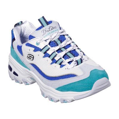 Skechers D'Lites Womens Lace-up Walking Shoes