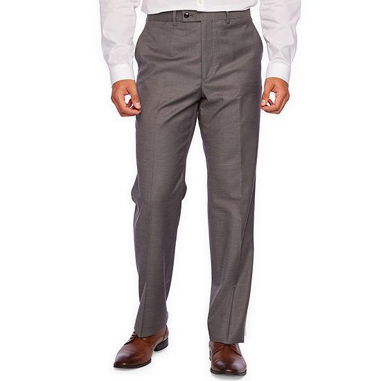 JF J.Ferrar Gray Stretch Sharkskin Suit Separate Classic Fit Stretch Suit Pants