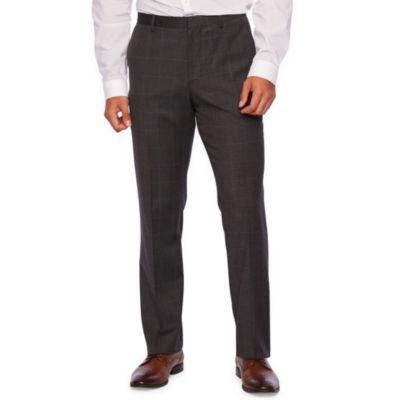 JF J.Ferrar Windowpane Slim Fit Stretch Suit Pants