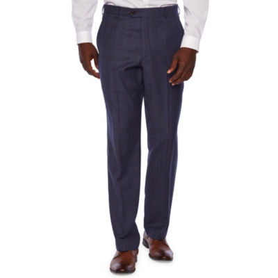 Stafford Executive Plaid Classic Fit Suit Pants