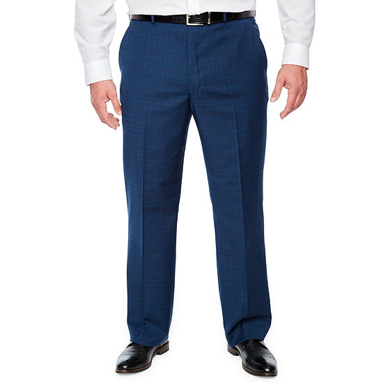 Stafford Mens Plaid Stretch Classic Fit Suit Pants - Big and Tall