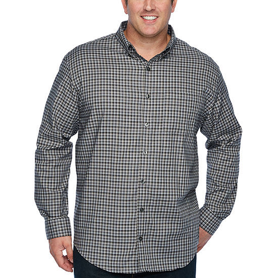 c70d6f51920 Van Heusen Mens Long Sleeve Checked Button-Front Shirt Big and Tall -  JCPenney