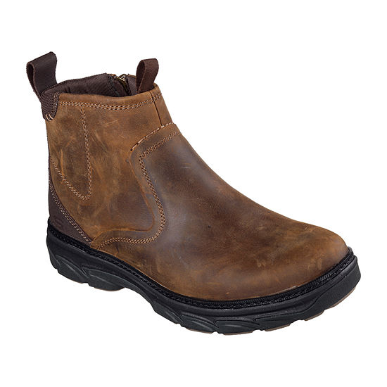 Skechers Mens Resment Zip Winter Boots