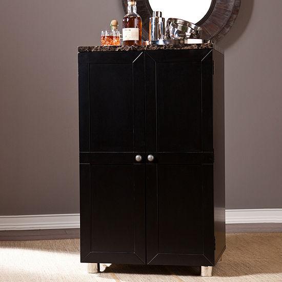 Wooden Door Kitchen Contemporary Bar Cabinet