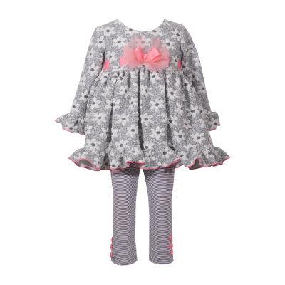 Bonnie Jean 2-pc. Daisy Legging Set-Baby Girls
