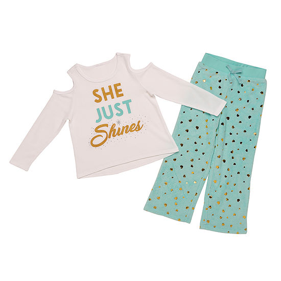 Girls 2-pc. Pant Pajama Set Preschool