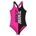 Nike Big Kid Girls Logo One Piece Swimsuit