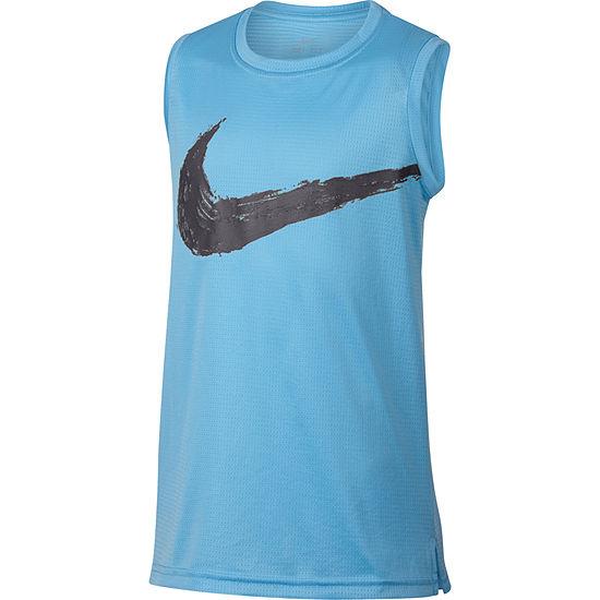 Nike - Big Kid Boys Crew Neck Dri-Fit Tank Top