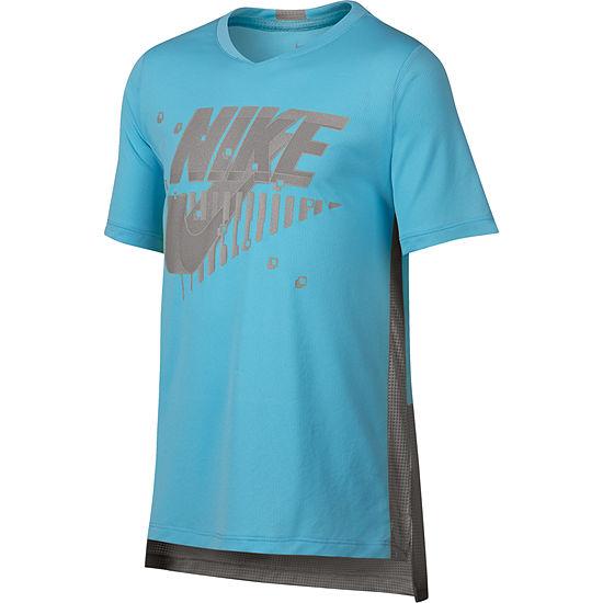 Nike Boys Crew Neck Short Sleeve Dri Fit Graphic T Shirt Preschool Big Kid