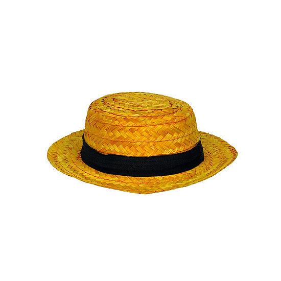 Adult Straw Roarin' 20'S Skimmer Hat Dress Up Accessory