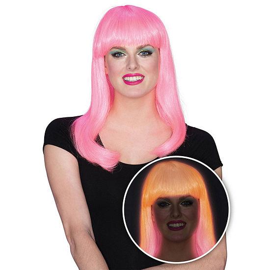 Women's Pink Glow Babe Wig