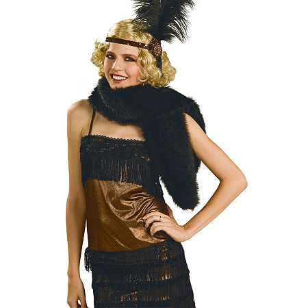 Deluxe Black Stole Costume Costume, One Size , Multiple Colors