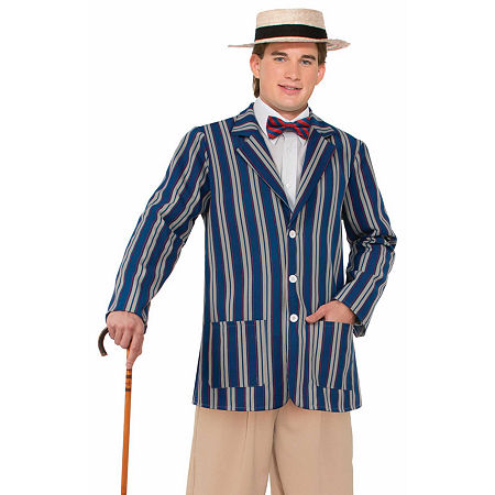 1920s Men's Costumes: Gatsby, Gangster, Peaky Blinders, Mobster, Mafia Roaring 20S Boater Jacket Mens Costume One Size  Multiple Colors $36.99 AT vintagedancer.com