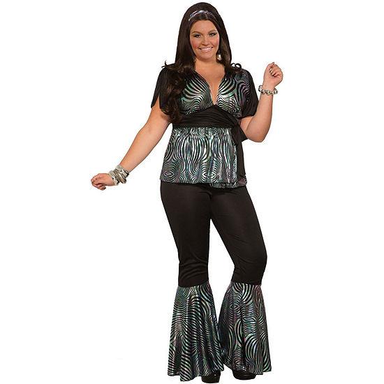 Buyseasons Womens Curvy Disco Dancer Plus Costume