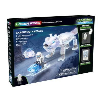 Laser Pegs Creatures Sabertooth Attack 230 Piece Construction Block Set
