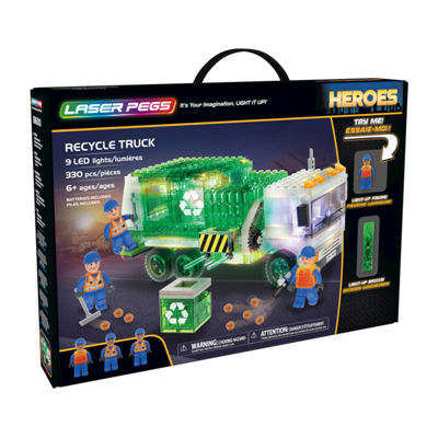 Laser Pegs Heroes Recycle Truck 330 Piece Construction Block Set