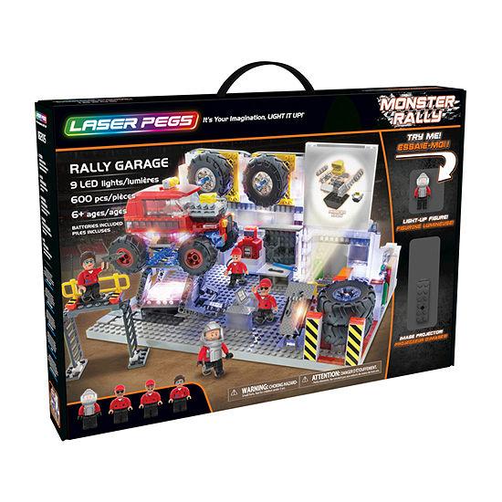 Laser Pegs Monster Rally Offroad Truck Garage 600 Piece Construction Block Set