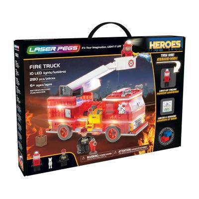 Laser Pegs Heroes Fire Truck 280 Piece Construction Block Set