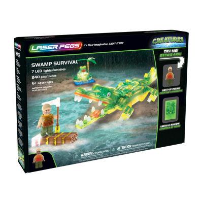 Laser Pegs Creatures Swamp Survival 240 Piece Construction Block Set