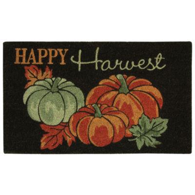 JCPenney Home Pumpkins Printed Rectangular Doormat