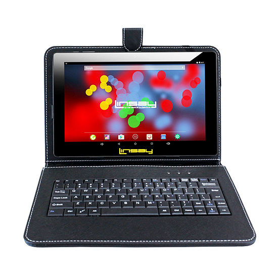 "LINSAY 10.1"" 1280x800 IPS Screen Quad-Core 2GB RAM 16GB Android 9.0 Pie Tablet with Keyboard Case"