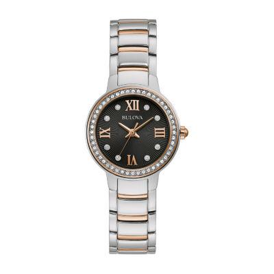 Bulova Womens Two Tone Stainless Steel Bracelet Watch 98l272