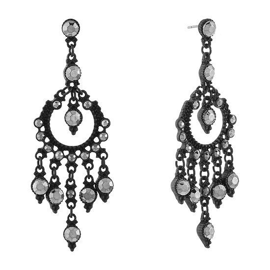 Mixit Black Chandelier Earrings
