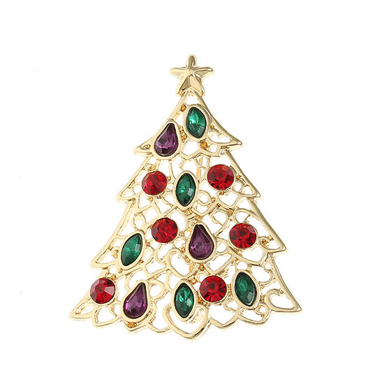 Liz Claiborne Christmas Tree Multi Color Pin