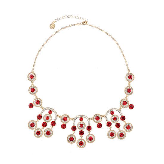 Monet Jewelry 18 Inch Rope Round Statement Necklace