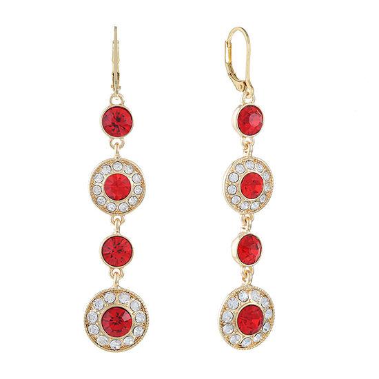Monet Jewelry Red Round Drop Earrings