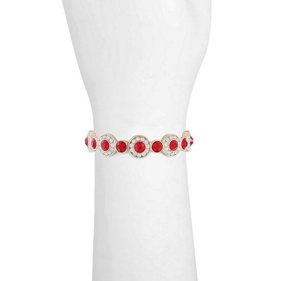 Monet Jewelry Red Round Stretch Bracelet