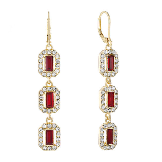 Monet Jewelry 1 Pair Red Drop Earrings
