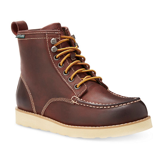 Eastland Womens Lumber Up Flat Heel Lace Up Boots