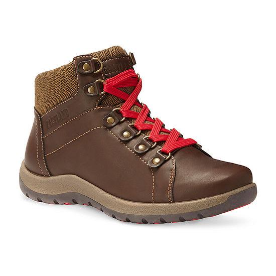 Eastland Womens Bethanie Flat Heel Wide Width Lace Up Boots