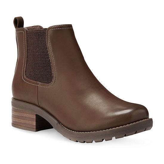 Eastland Womens Jasmine Chelsea Boots Block Heel