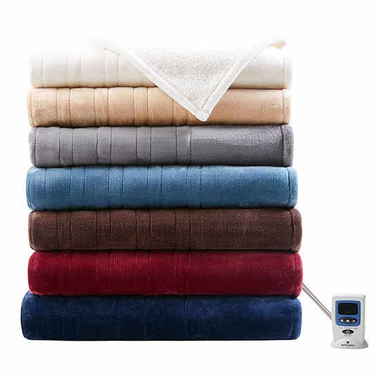 Woolrich Heated Plush To Berber Heated Electric Blanket