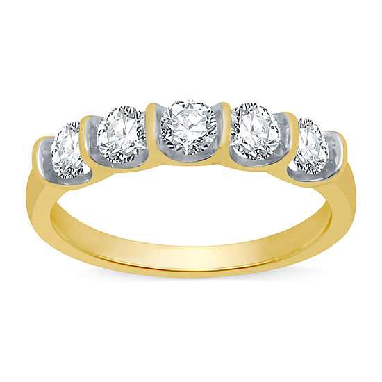 Ever Star 2MM 1 CT. T.W. Lab Grown White Diamond 10K Gold Band