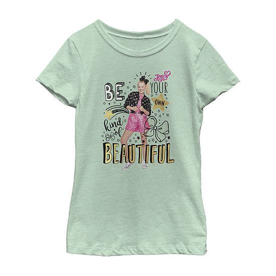 Jojo Siwa Be Your Own Kind Of Beautiful Girls Crew Neck Short Sleeve Graphic T-Shirt - Preschool / Big Kid Slim